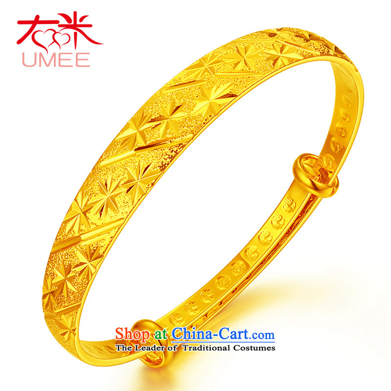 Right-m _umee_ jewelry retro China wind super star pattern plated gold bracelet, opening of push-pull resizable wedding bride bracelets push-pull a star pattern_