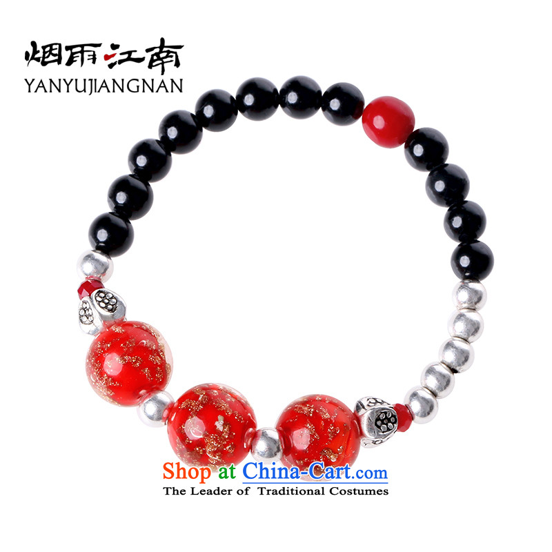 Gangnam-gu rainy in China wind stylish jewelry agate glass bracelets sweet red decor furnished to the circumference of the female wrist 20 cm