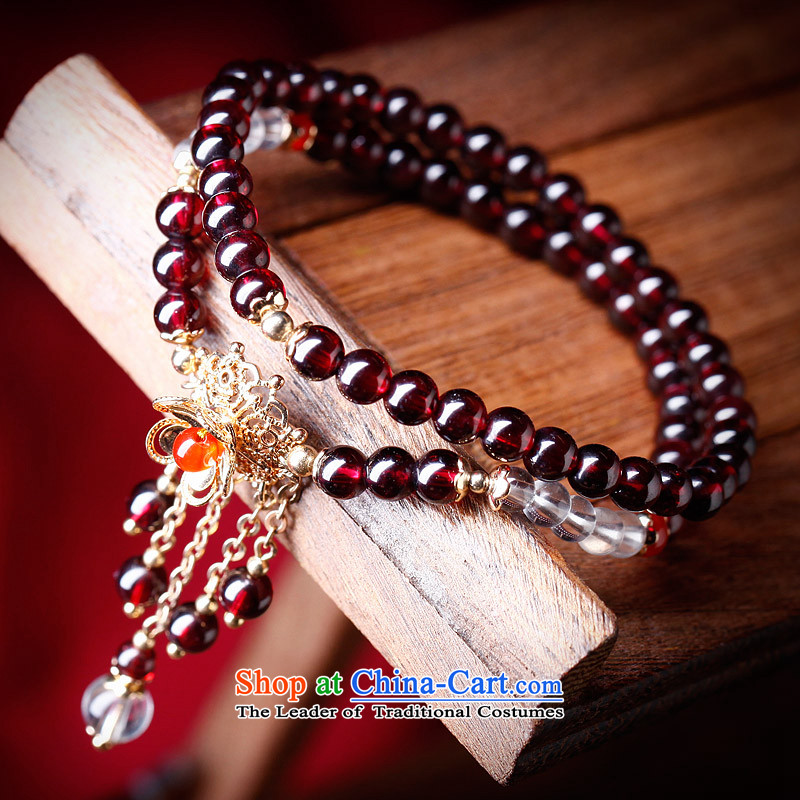 Phoenix Nirvana Hand chain female retro multi-storey white stone pomegranates crystal Red Agate hand string China wind ornaments AA300150610W manually Mui makeup bracelet, Phoenix Nirvana , , , shopping on the Internet
