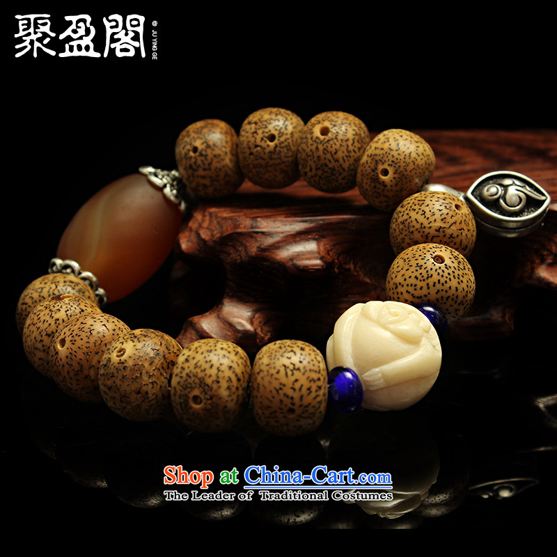 Successive gains Kok Tibetan style natural high density in the first month ice-flower on the bodhi-star bead and seed single ring hand string 12 animals of the Chinese zodiac, Lung
