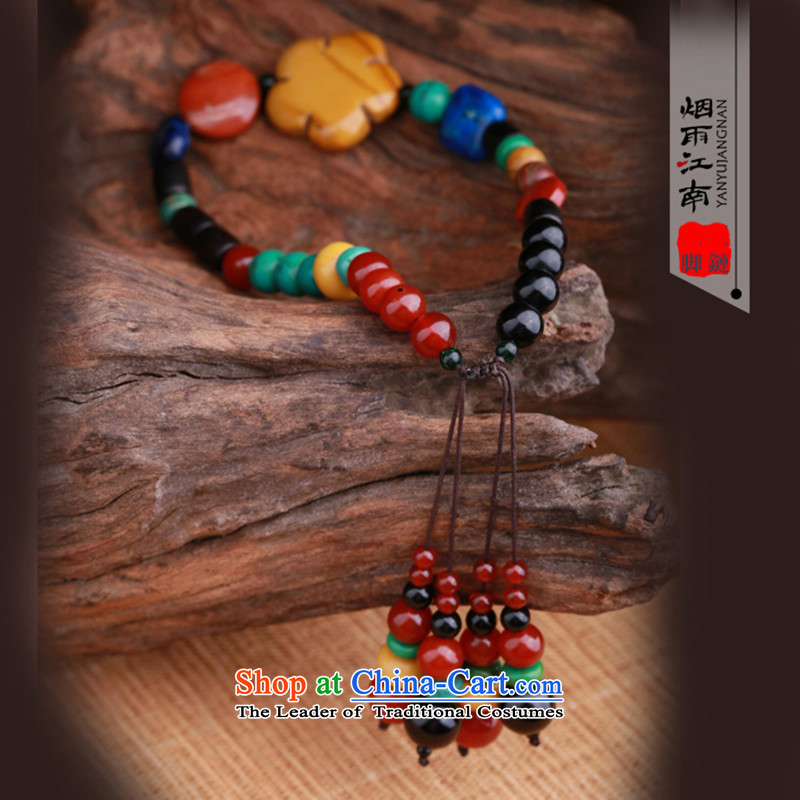 Gangnam-gu rainy manually China wind color stone chains of ethnic retro weaving female summer accessories ankle Circumference 24cm, rain Gangnam , , , shopping on the Internet
