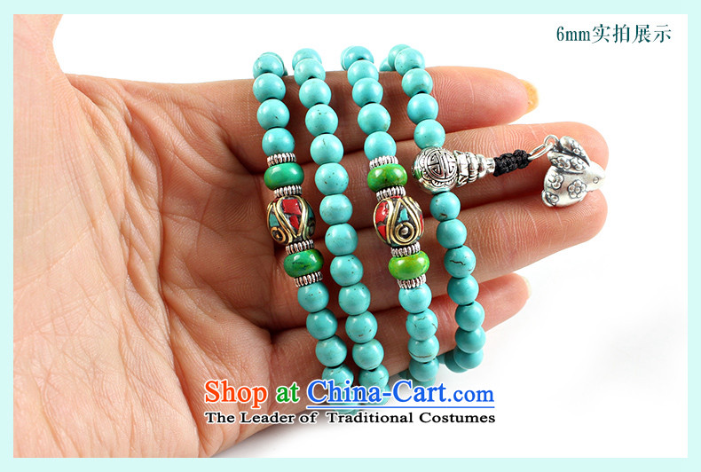 Easy-to-edge optimization turquoise bead bracelets 108 hand string Tibetan silver screws zodiac multi-tier hand chain men and women of the mouse 8mm picture of the Chinese zodiac, prices, brand platters! The elections are supplied in the national character of distribution, so action, buy now enjoy more preferential! As soon as possible.