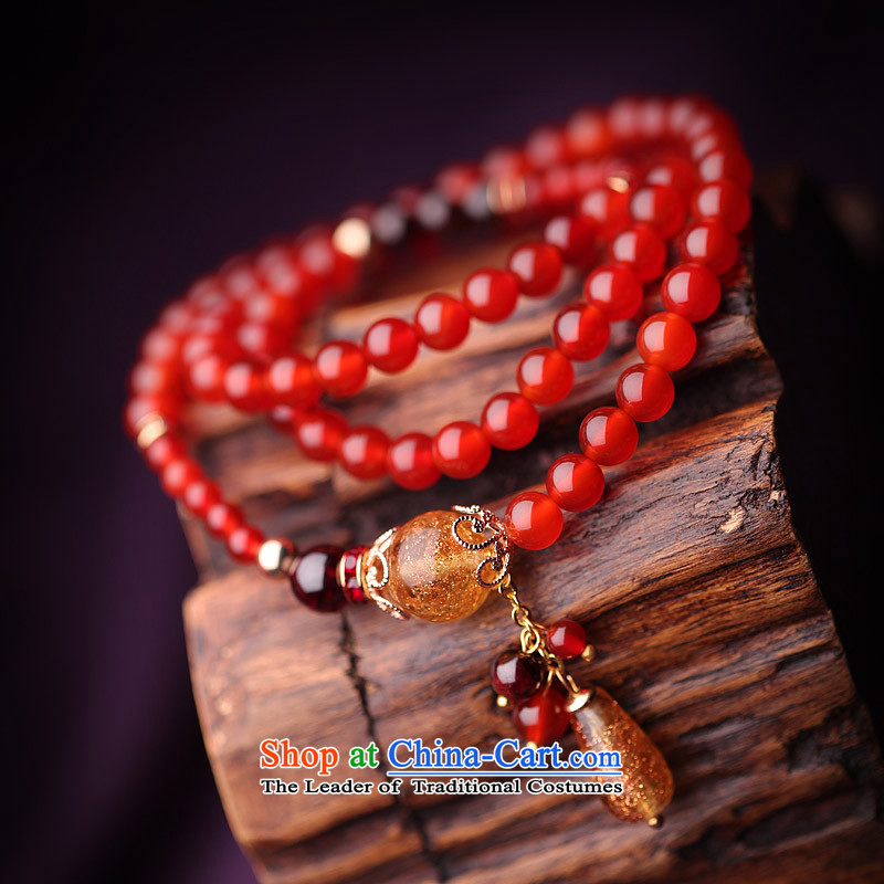 Phoenix Nirvana Hand chain female natural Red Agate pomegranates stone multi-tier original hand string China wind verdant, manually jewelry, Phoenix Nirvana , , , shopping on the Internet