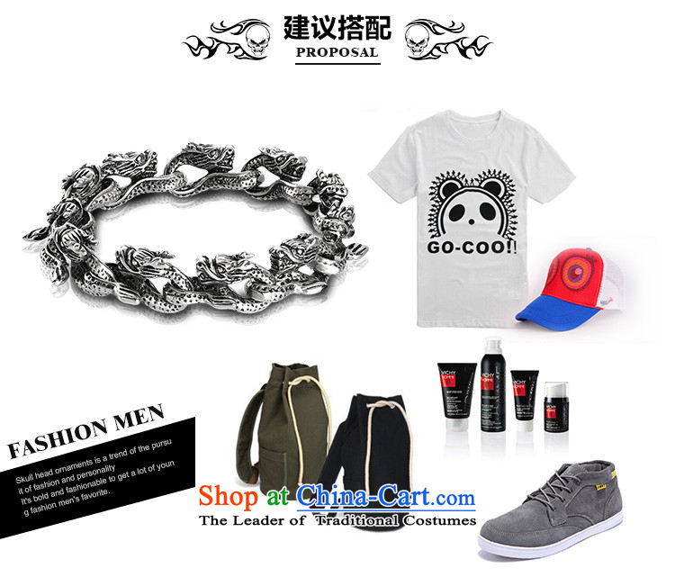 Xu ping retro stylish dragon men titanium steel hand chain China wind collar boyfriend birthday gift titanium steel length of about 20.5cm picture, prices, brand platters! The elections are supplied in the national character of distribution, so action, buy now enjoy more preferential! As soon as possible.
