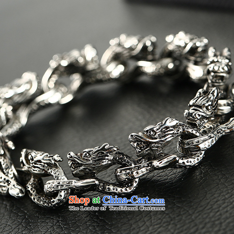 Xu ping retro stylish dragon men titanium steel hand chain China wind collar boyfriend birthday gift steel length of about 20.5cm, titanium-wook-jewelry (XUPING JEWELRYI) , , , shopping on the Internet