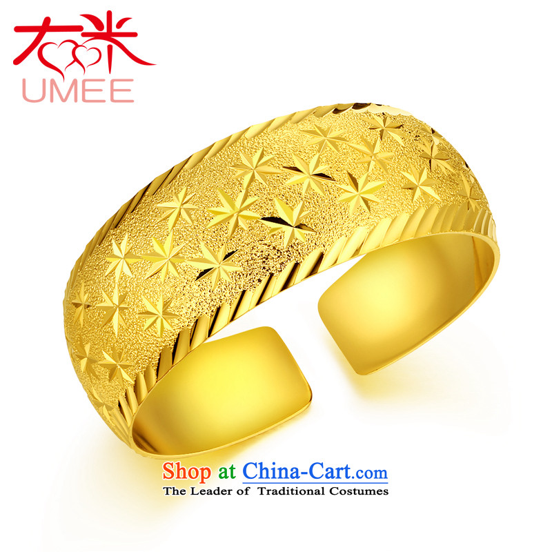 Right-m (umee) jewelry retro China wind opening wide bracelet plating female super star golden wedding Jewelry marry bracelets bracelet