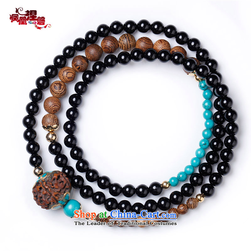 Phoenix Nirvana original hand chain of nostalgia for the black handle on the string of agate Mt China wind accessories peasants _hand chain聽_ Female