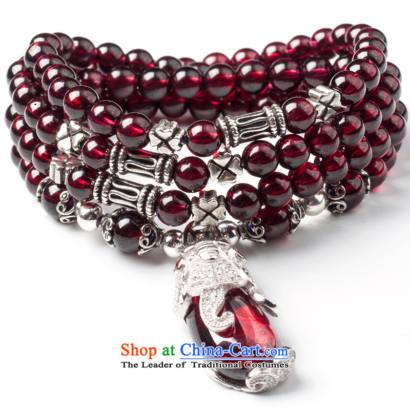 The Good of pomegranate stone women multi-slice, multi-turn crystal hand chain hand string bead addition girlfriend Tanabata Festival birthday gift mother Christmas presents multiple laps, ancient animals MYSTIC FORCE)