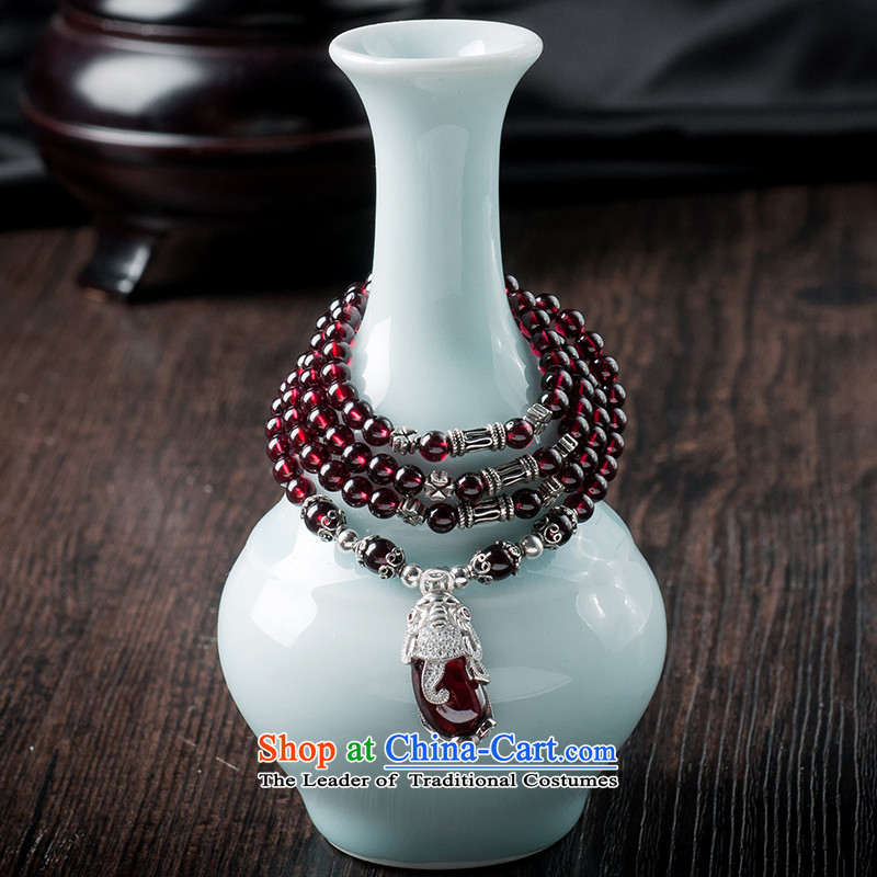 The Good of pomegranate stone women multi-slice, multi-turn crystal hand chain hand string bead addition girlfriend Tanabata Festival birthday gift mother Christmas presents multiple laps Rui beast, Mystic force to good shopping on the Internet has been p