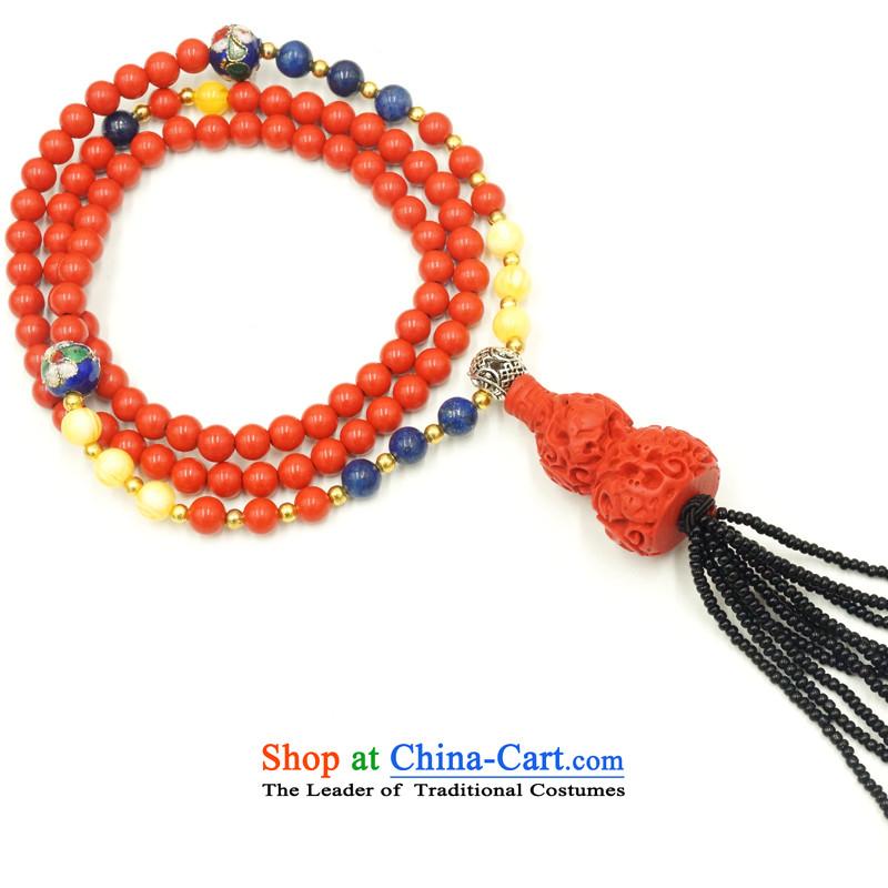 Yan Hongyu cinnabar hand chain cinnabar sweater chain series chinese red cinnabar women hand chain Valentine's girlfriend rushed couture, wall hangings_ 11