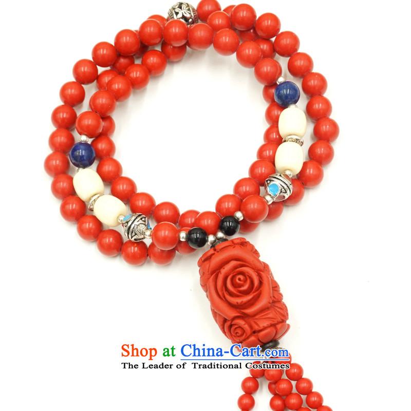 Yan Hongyu cinnabar hand chain cinnabar sweater chain series chinese red cinnabar women hand chain Valentine's girlfriend rushed couture, wall hangings_ 12