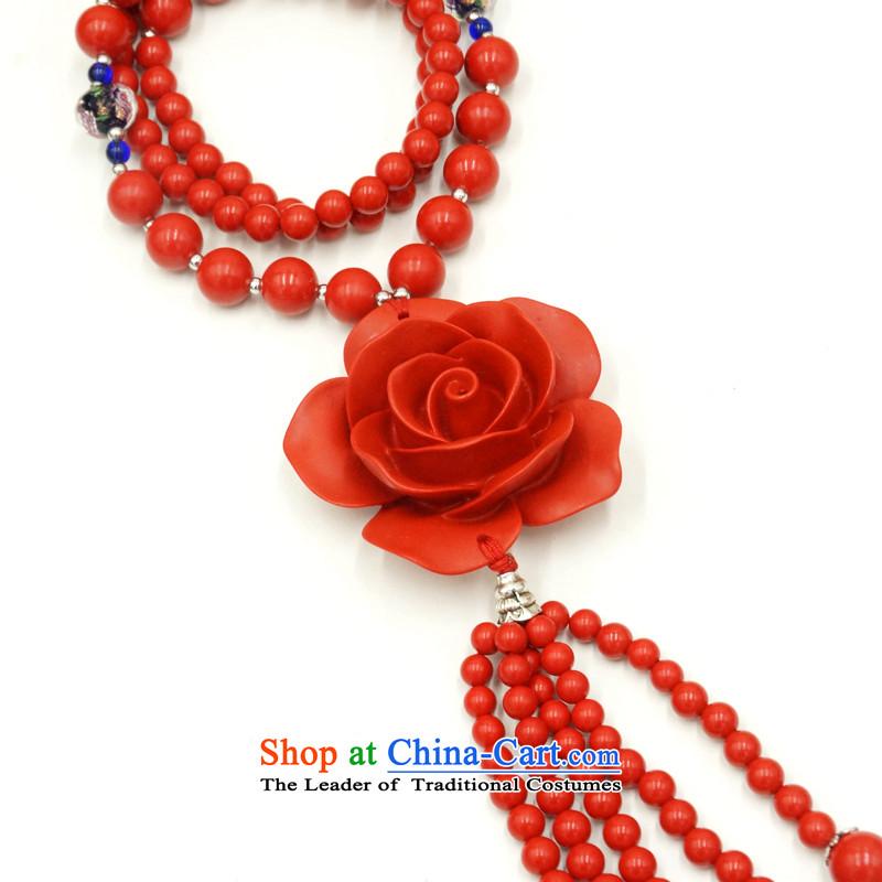 Yan Hongyu cinnabar hand chain cinnabar sweater chain series chinese red cinnabar women hand chain Valentine's girlfriend rushed couture, wall hangings_ 13