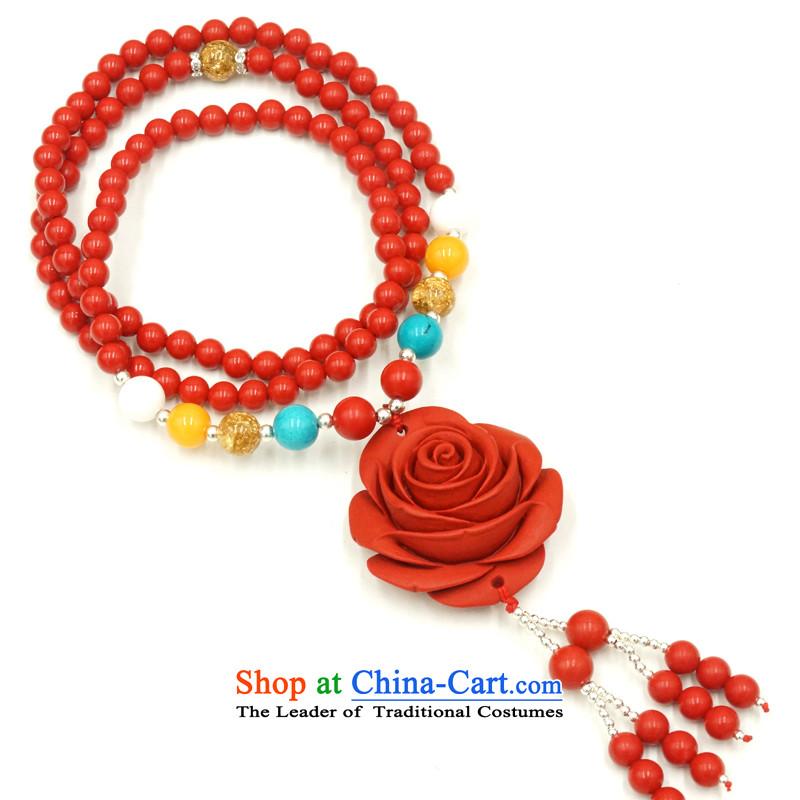 Yan Hongyu cinnabar hand chain cinnabar sweater chain series chinese red cinnabar women hand chain Valentine's girlfriend rushed couture, wall hangings_ 14