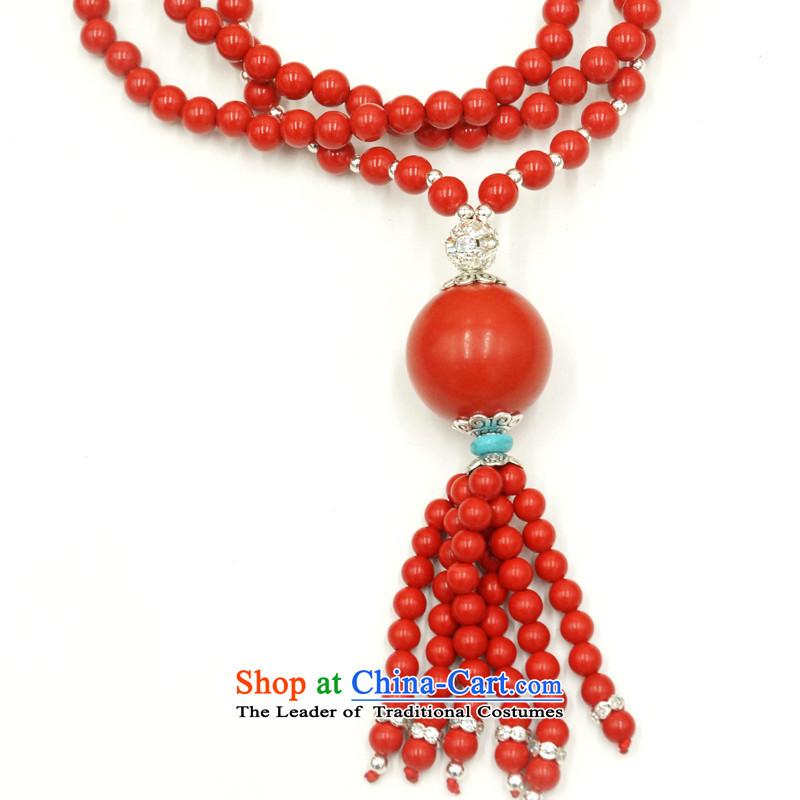 Yan Hongyu cinnabar hand chain cinnabar sweater chain series chinese red cinnabar women hand chain Valentine's girlfriend rushed couture, wall hangings_ 15