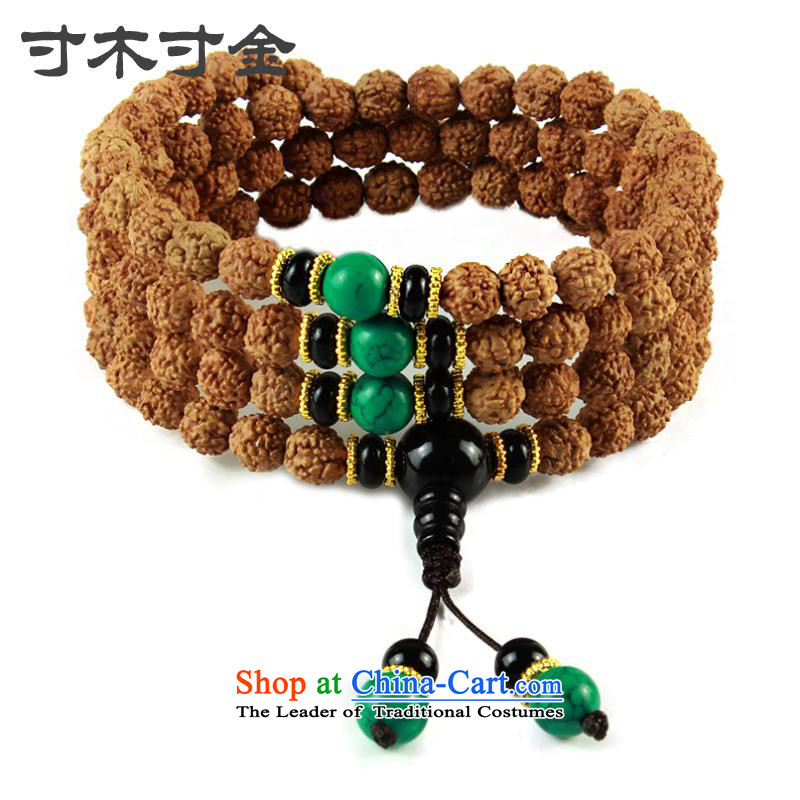 Inch inch original wooden seed 5 star small Vajra Bodhi sub peaches 108 screws that bead bracelets multi-tier Candida Albicans skewers with turquoise_ was a Chinese Zodiac