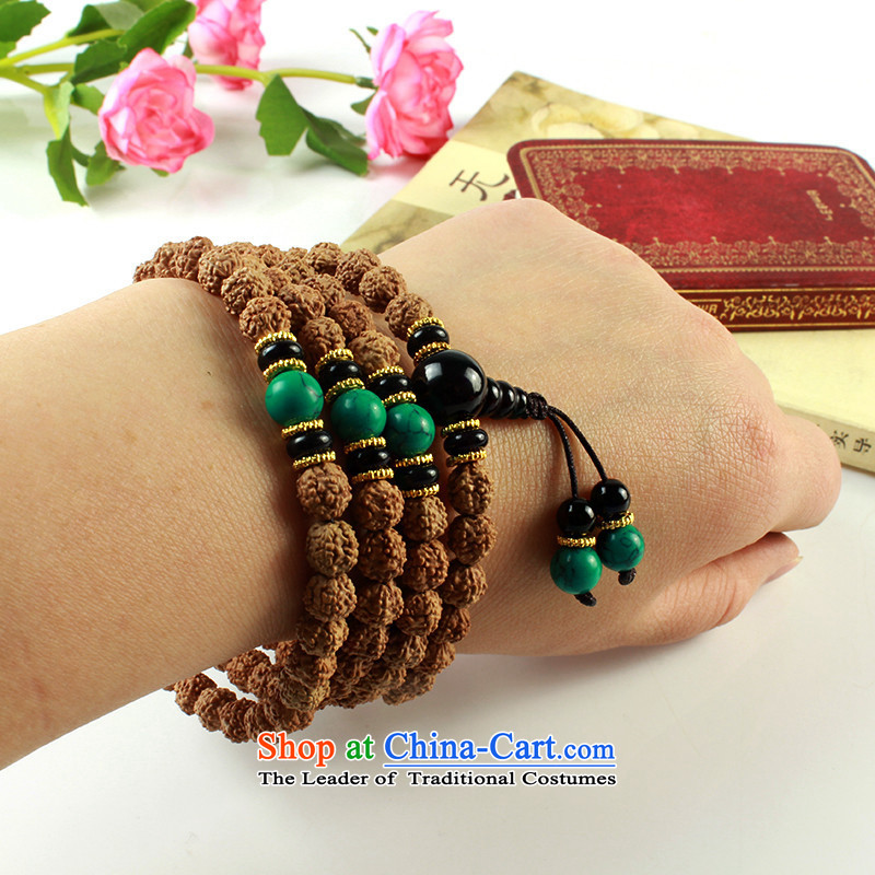 Inch inch original wooden seed 5 star small Vajra Bodhi sub peaches 108 screws that bead bracelets multi-tier Candida Albicans skewers with turquoise, a Chinese zodiac, was inch inch wood , , , shopping on the Internet
