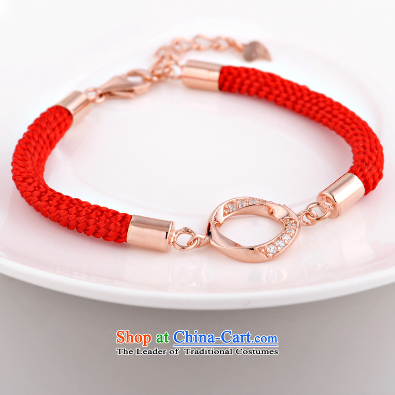 The United States and 925 silver bracelet couples red couples ornaments are accompanied by a couple hand chain women - Chinese red, the United States has been pressed shopping on the Internet
