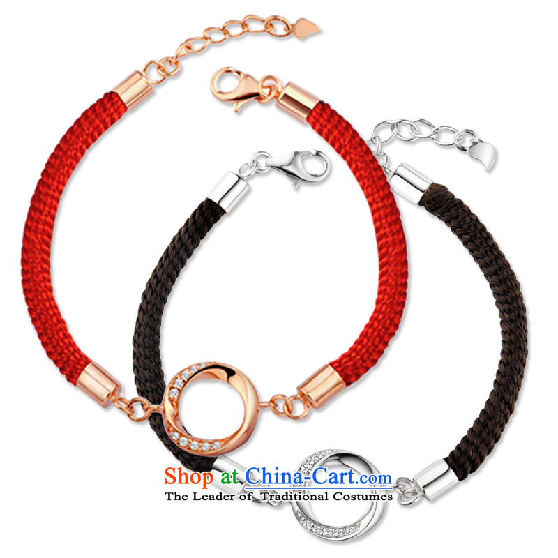 Maomao 925 silver bracelet couples red couples ornaments are accompanied by a couple hand chain women - Chinese red