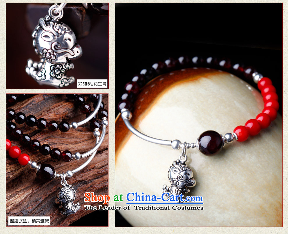 Phoenix Nirvana hand string female ancient style of pomegranate wine red stone 925 silver zodiac hand chain of ethnic ornaments of Yao (hand chain ) mouse picture, prices, brand platters! The elections are supplied in the national character of distribution, so action, buy now enjoy more preferential! As soon as possible.