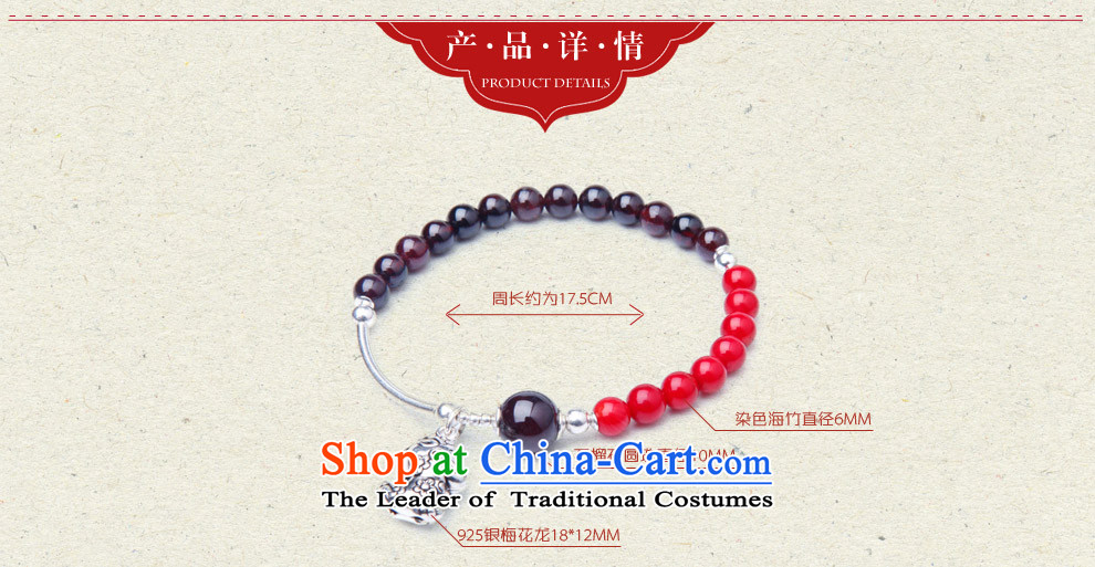 Phoenix Nirvana hand string female ancient style of pomegranate wine red stone 925 silver zodiac hand chain of ethnic ornaments of Yao (hand chain) mouse picture, prices, brand platters! The elections are supplied in the national character of distribution, so action, buy now enjoy more preferential! As soon as possible.