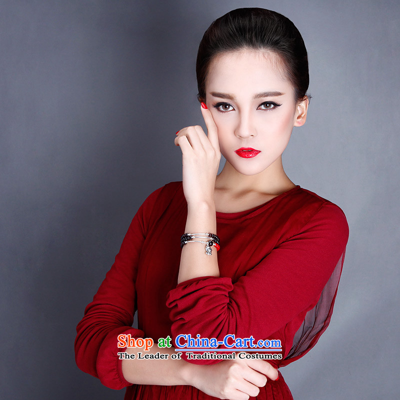 Phoenix Nirvana hand string female ancient style of pomegranate wine red stone 925 silver zodiac hand chain of ethnic ornaments of Yao (hand chain) mouse, Phoenix Nirvana , , , shopping on the Internet