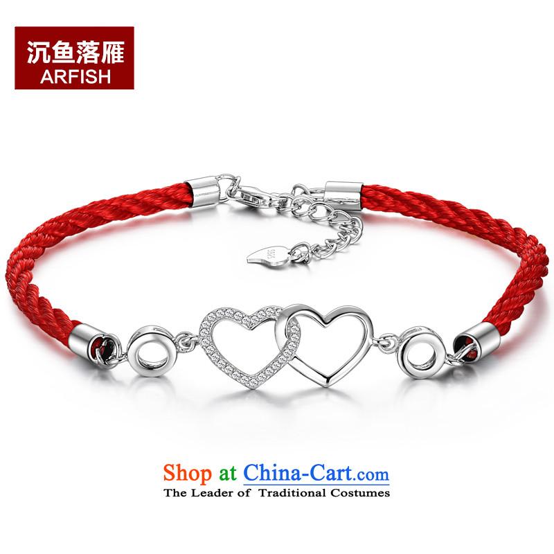 -聽925 silver bracelet women red series bulleetin jewelry jewelry female China wind gift Hand chain