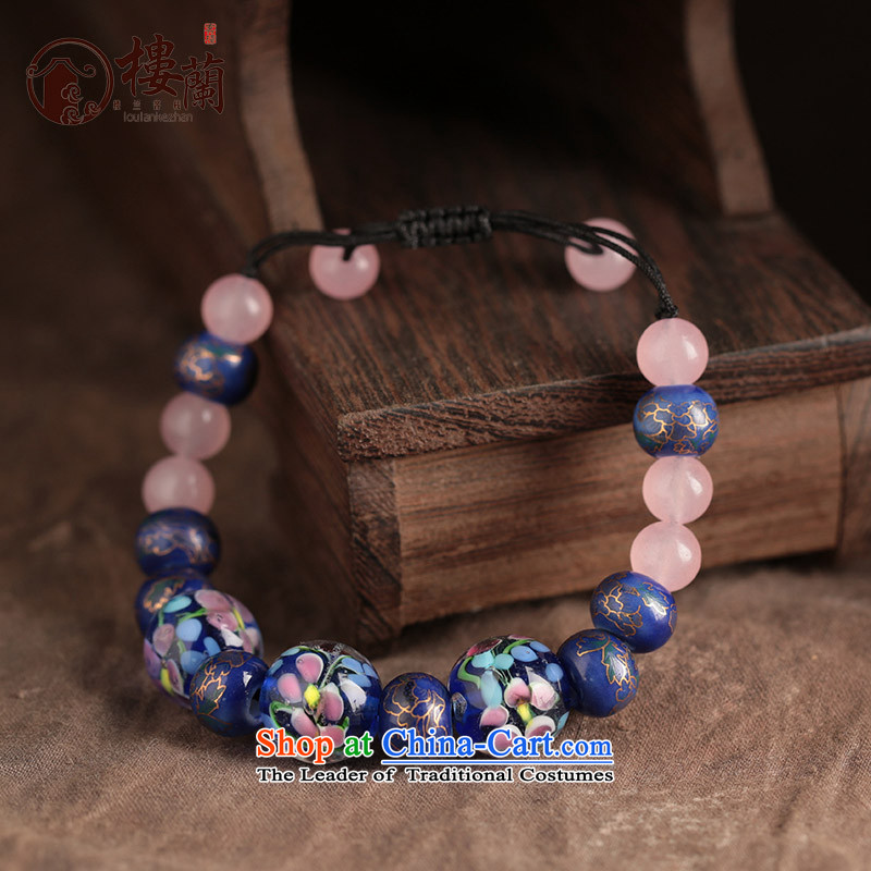The original glass beads ceramic balls to string retro Yunnan ethnic wind hand chain jewelry products China wind female