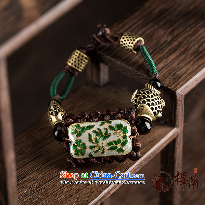 Ethnic jewelry products hand woven hand strap retro China wind fish Cloisonne Accessory decorated hand chain female wrist net size (Please attach a wrist strap is 1983-1995 cm