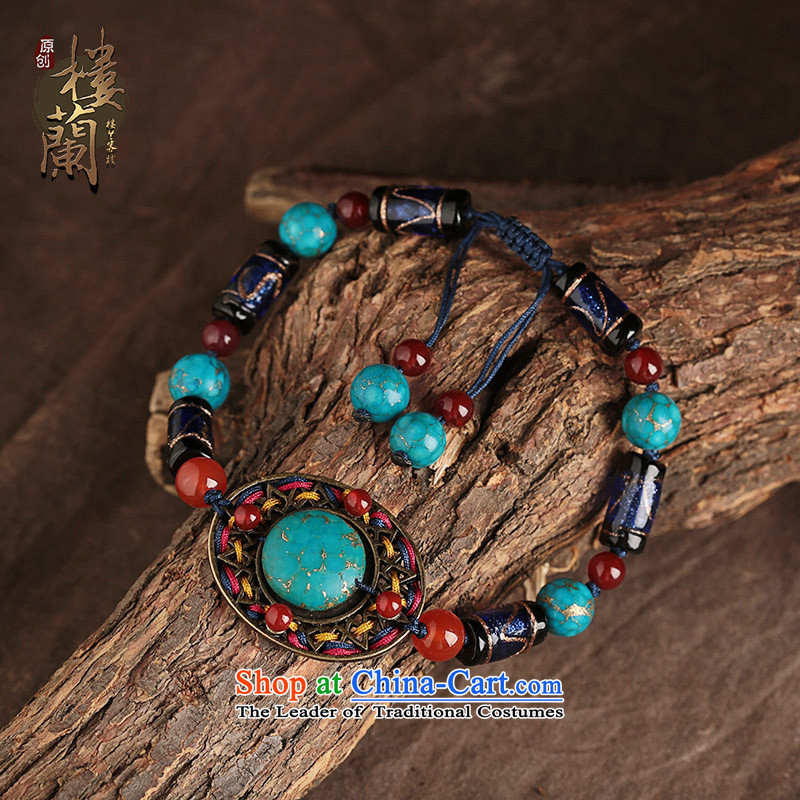 Blue ethnic chains female retro woven glass Princess Accessories Lucknow minimalist China wind decorations, that possession of the United States , , , shopping on the Internet