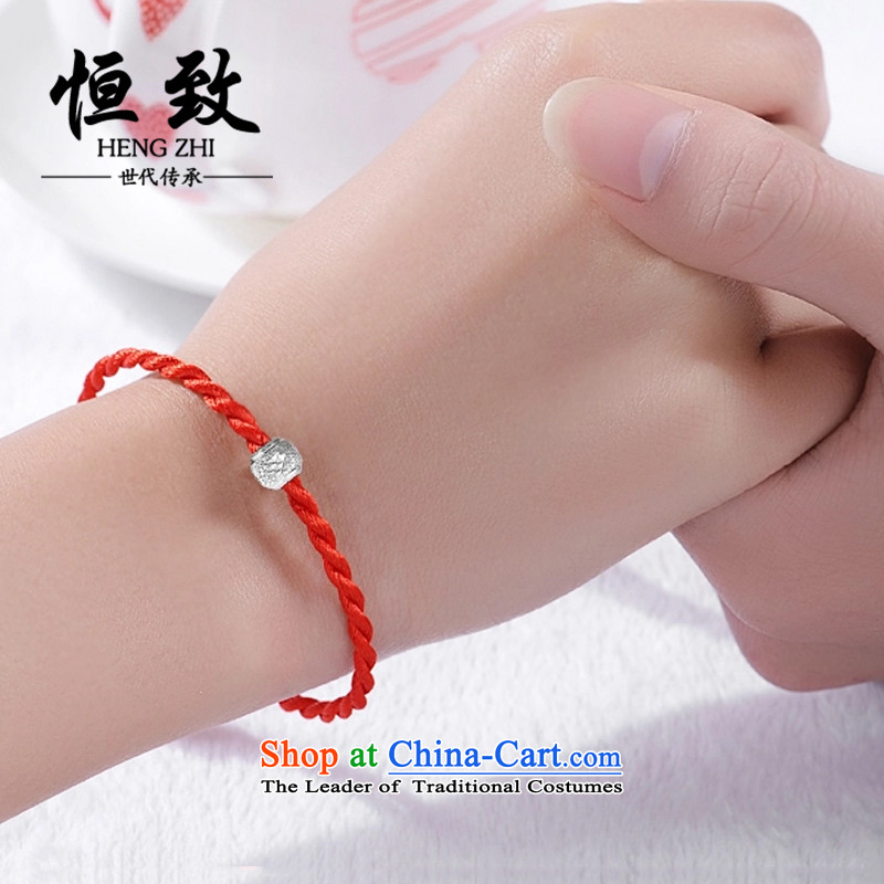 Hang Chi silver bracelet and silverware s925 transshipment beaded bracelets this year by the Red Hand chain China wind couple Hand chain