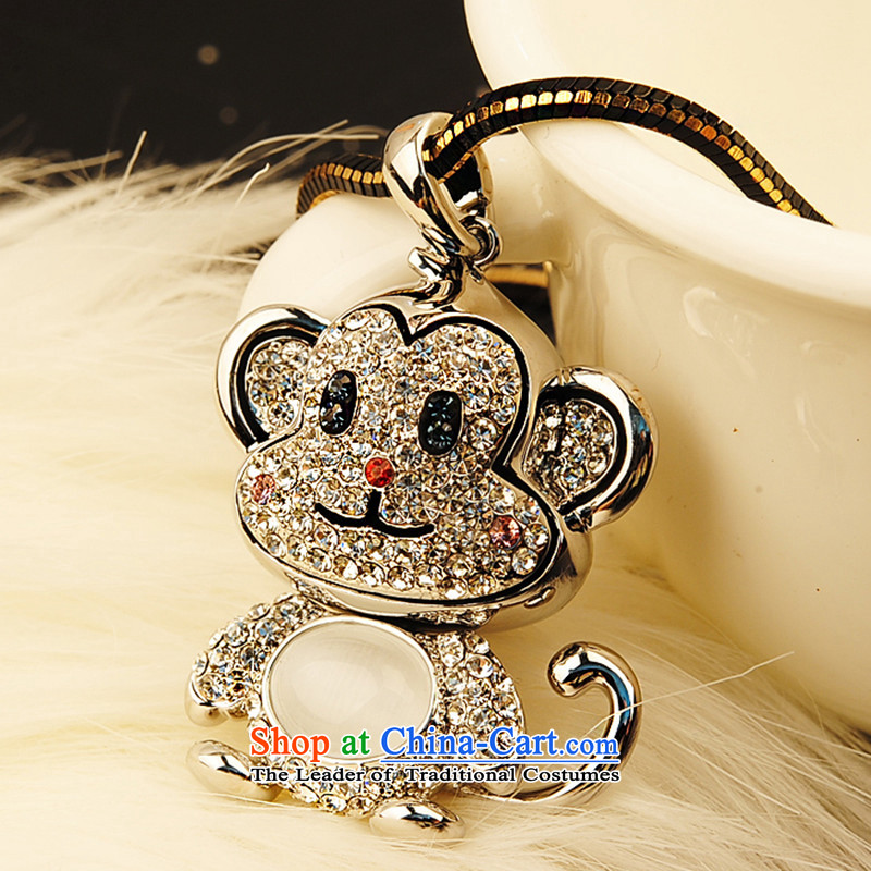 Martin Lee of the Chinese Zodiac Monkey gamma pendants jewelry sweater link long autumn and winter necklace female accessories White Gold
