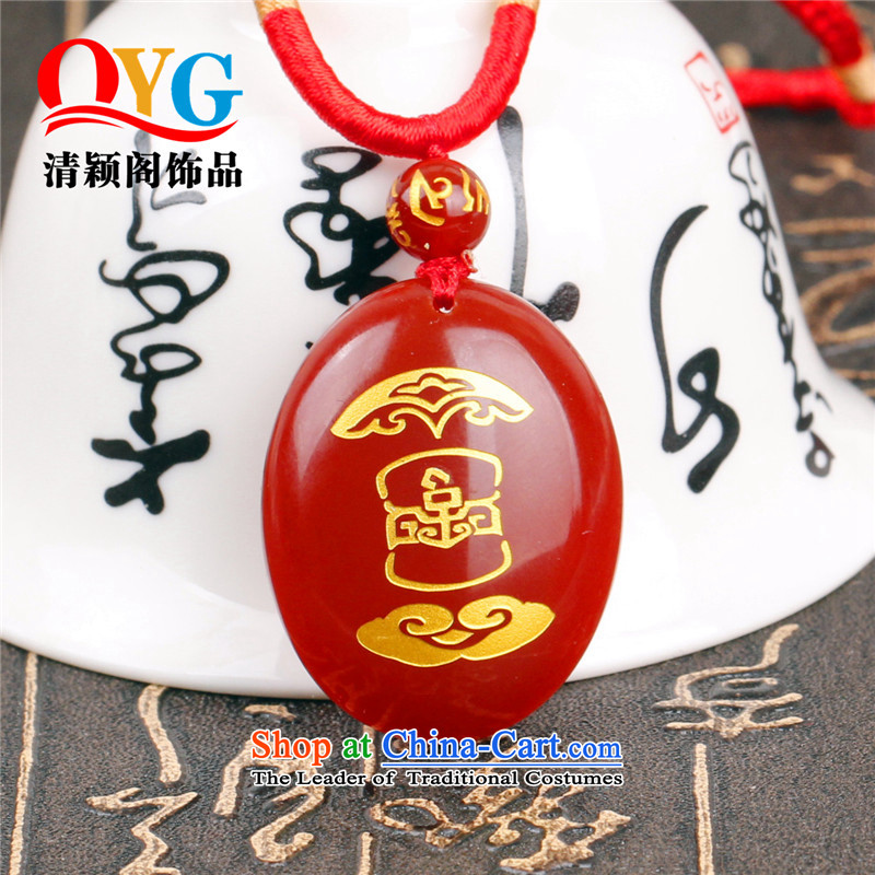 2016 The optical mascot 925 silver Wong Yuk-marrow elections - the Chinese zodiac really belong to the seven stars of the Council of lunch tong kai yun mascot year of the Monkey Red Agate Pendant