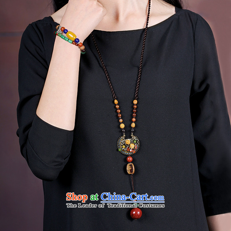 Ethnic necklace long sweater link personality retro China wind ceramic pendants accessories female autumn and winter standard length (80 cm ),,,, shopping on the Internet