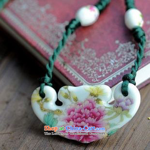 Mai Gigi Lai China wind nanguo go ethnic characteristics ceramic peony flowers necklace original boutique luxury