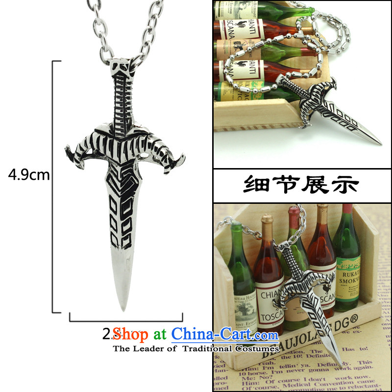 Holy weapon of my ancestors on drunken China wind Stylish retro Korean steel products Europe jewelry titanium men pendants steel necklace with O-Link Picture, prices, brand platters! The elections are supplied in the national character of distribution, so action, buy now enjoy more preferential! As soon as possible.