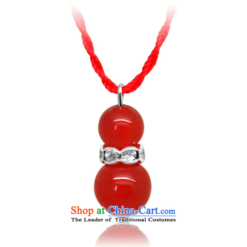 Mai Gigi Lai Stylish ornaments creative classic Chinese Red Agate gourd red necklace dual agate gourd-
