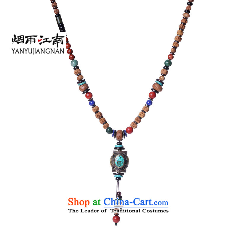 Gangnam-gu rainy long sweater necklace possession of international democracy in Nepal China wind Vajra Bodhi lapis jewelry female circumference 105 cm (both non-adjustable)