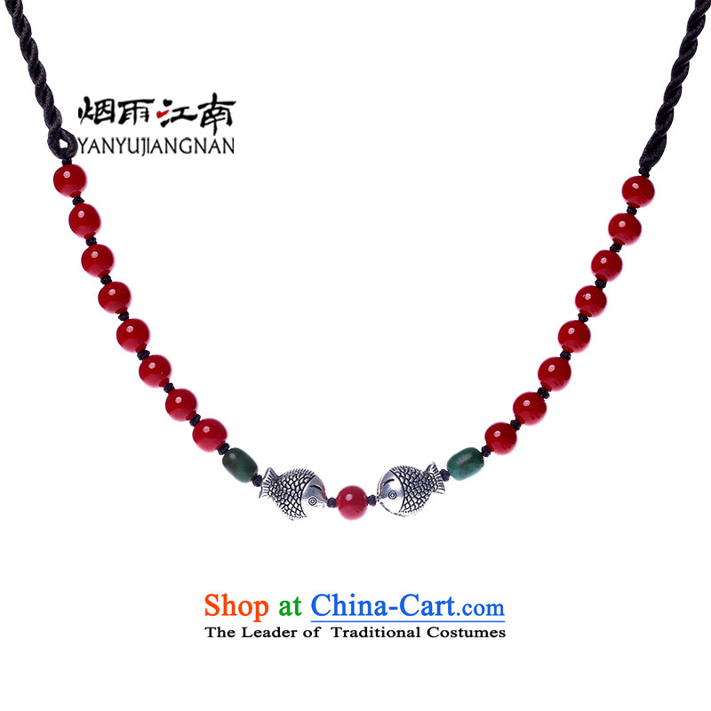 The smoke of the Gangnam short clavicle necklace national retro China Wind Flower Xiaoyushan jewelry female 925 silver standard size (45 cm) from the Perimeter