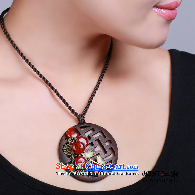 The smoke of the Gangnam short clavicle necklace national retro China wind carved wood antique decorated court female custom length (write messages to a specific size of rain), Gangnam , , , shopping on the Internet