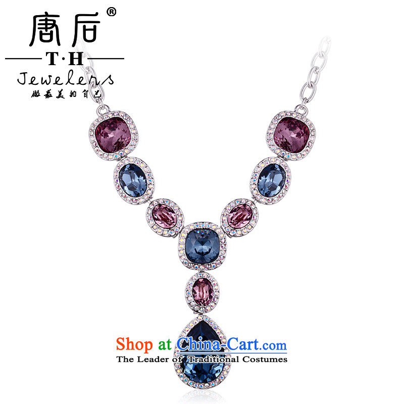 The TH western style banquet after Tang Kit necklace Austria Artificial Crystal Pendant pendants long chain as China also Shing