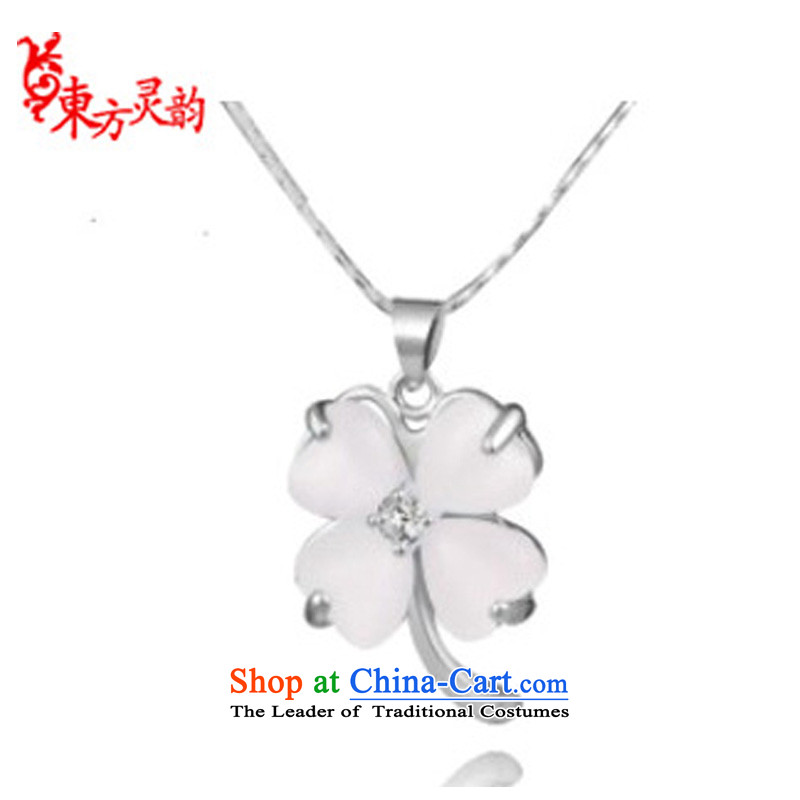 The East China wind Ms. Yun Ling 925 silver necklace parquet cat's-eye pendant (grants) silver necklace