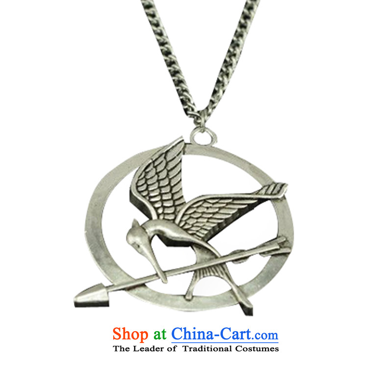 White-collar corporation hunger game female hang pendant Products Bird necklace jewelry circle sneered at pendants couples sweater chain is furnished to the ancient silver