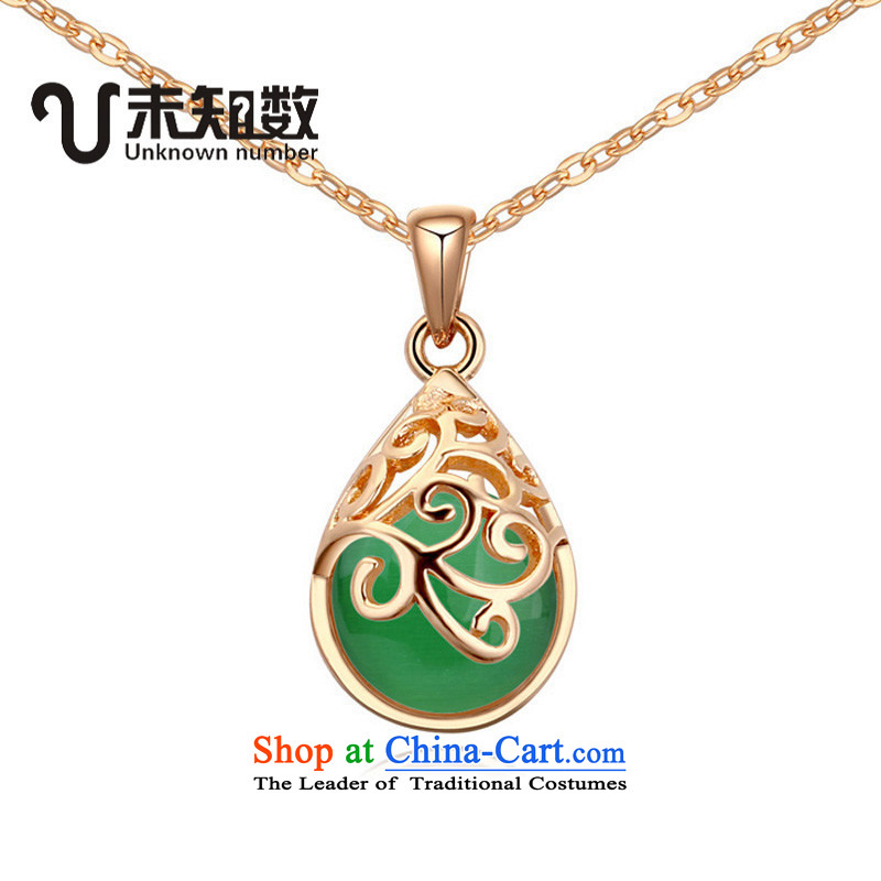 Necklace retro necklace Ms. stylishly short link China wind jewelry ethnic green