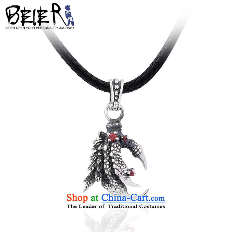 Beier 925 Silver Dragon Chinese zodiac claws pendants despot men necklace male and pendants?A0609?default input titanium steel bead chain