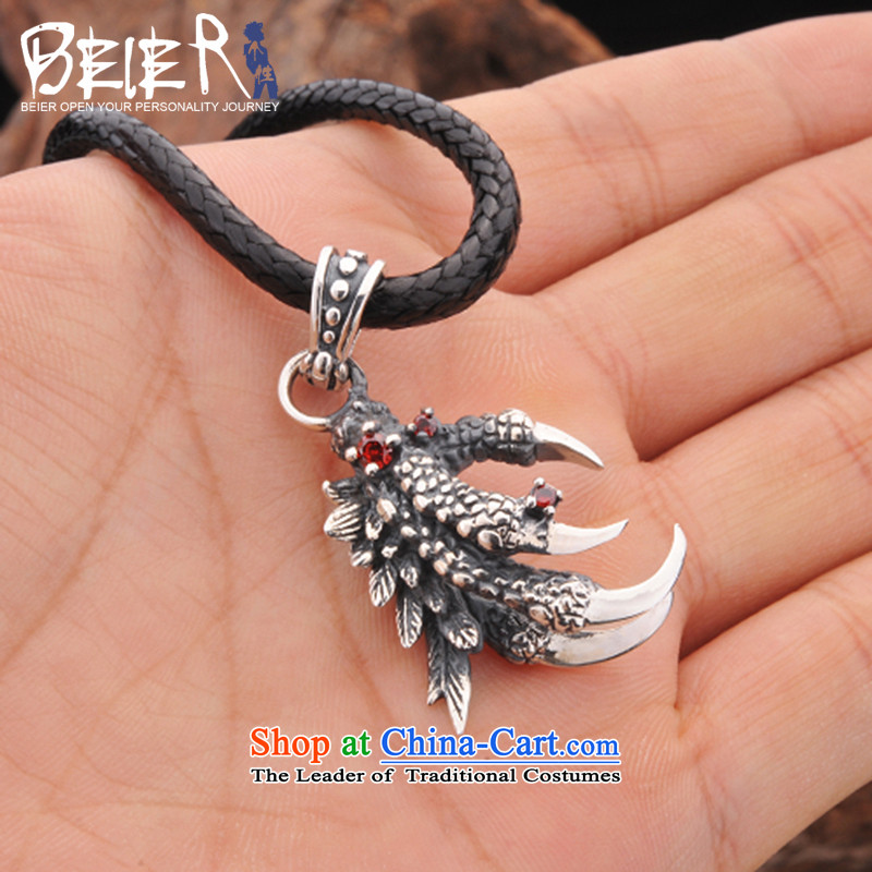 Beier 925 Silver Dragon Chinese zodiac claws pendants despot men necklace male and pendants A0609 default input titanium steel bead chain ,BEIER,,, shopping on the Internet