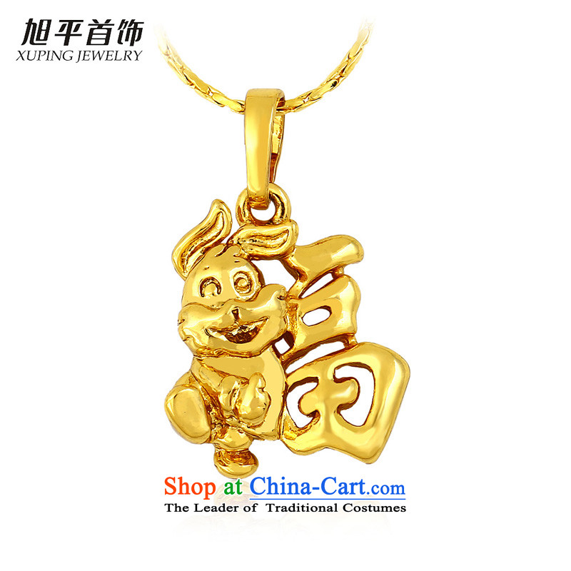 Gold plated gold jewelry xupingjewelry short of the clavicle women necklace fashion accessories birthday gift of the Chinese zodiac and
