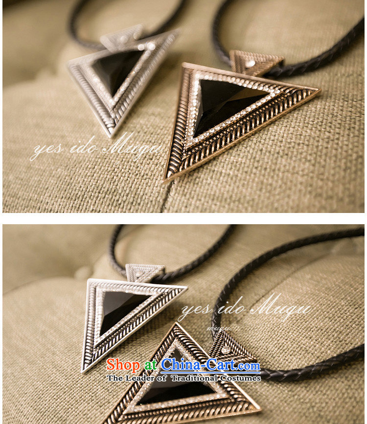 Juko Korean short of aristocratic necklace Triangle geometry necklace sweater Ms. chains hanging 3309 ancient silver picture, prices, brand platters! The elections are supplied in the national character of distribution, so action, buy now enjoy more preferential! As soon as possible.