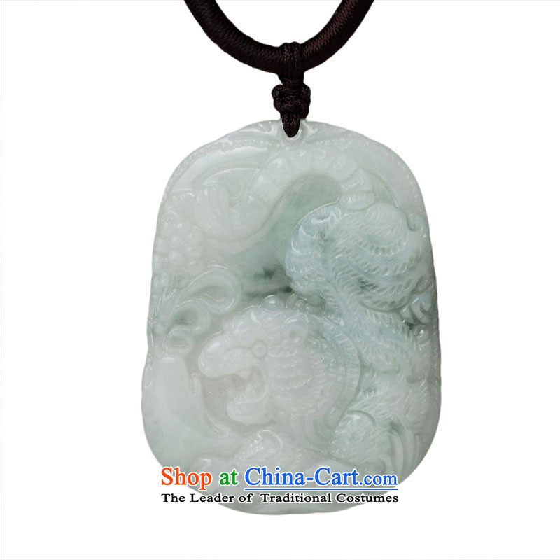 The Feng Shui Kok Jade the Chinese zodiac tiger pendants Necklace
