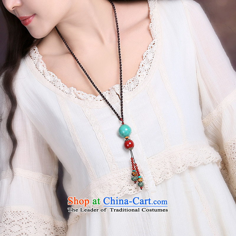 Gangnam-gu rainy loose ceramic pendants sweater link, the Chinese national culture and arts wind retro van minimalist spring and summer custom length (Please Be Specific Size message), Amidst the Rain Gangnam , , , shopping on the Internet