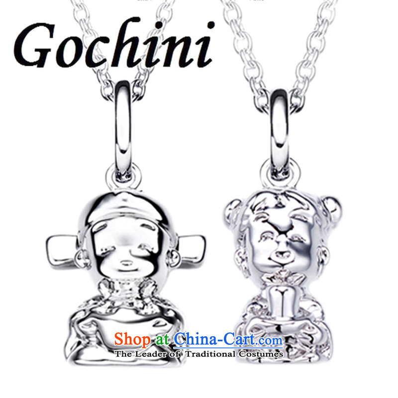 ?China wind stereo couples gochini lovely doll necklace pendants a couple of small jewelry products necklace gift of 60CM